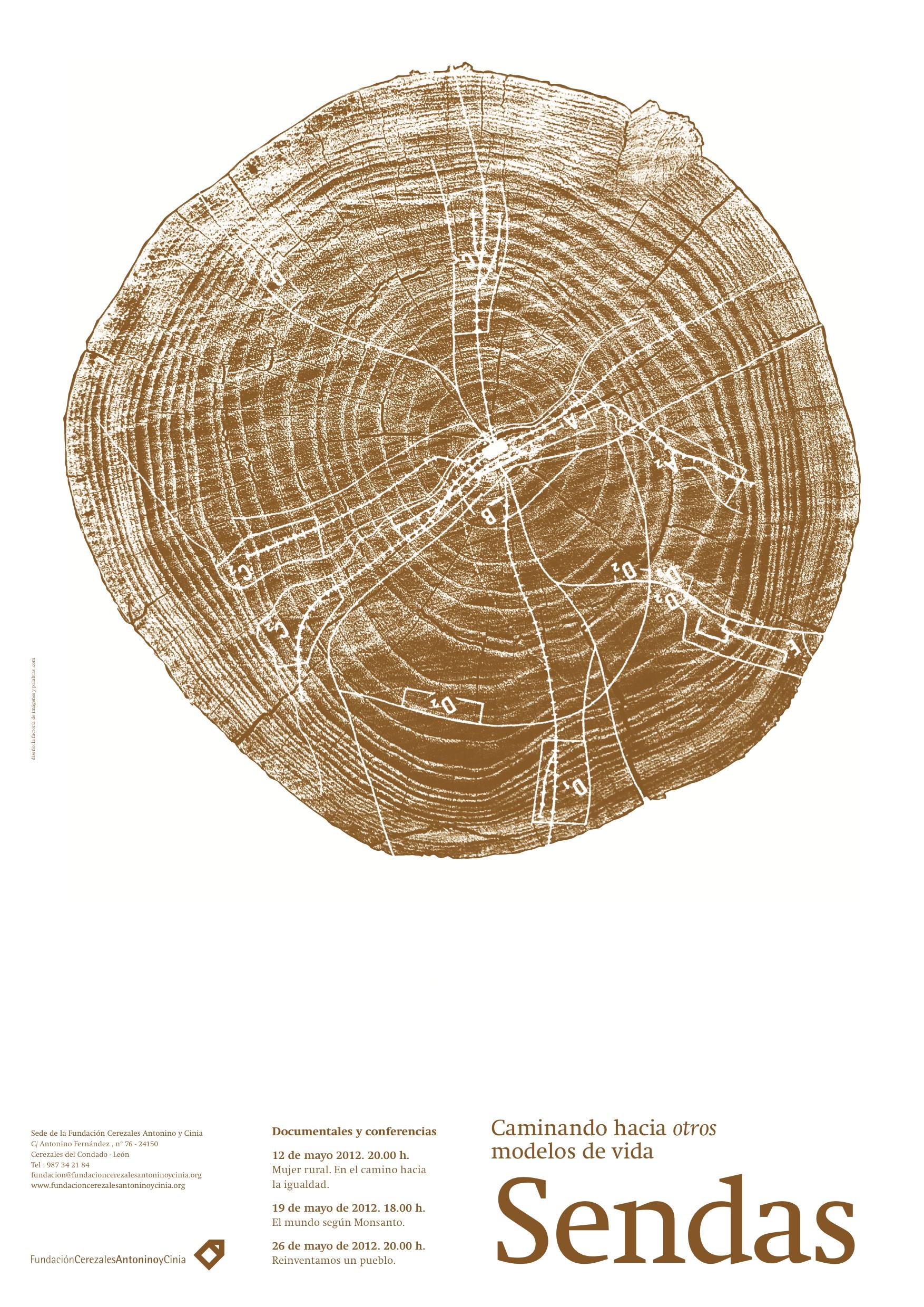 Cartel Sendas II Fundación Cerezales