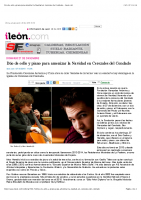 Duo de cello y piano para amenizar la Navidad en Cerezales del Condado – ileon.com