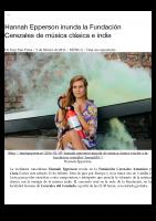 Hannah Epperson inunda la Fundación Cerezales de música clásica e indie | Tam-Tam Press