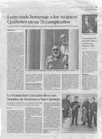 LA Fundacion Cerezales lleva sus Sonidos de Invierno a San Cipriano _ Diario de Leon _ 3-1-16