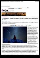 La Fundación Cerezales se convierte este fin de semana en un observatorio del cielo – ileon.com