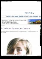La violinista Hannah Epperson, en Cerezales