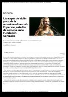 Las capas de violín y voz de la americana Hannah Epperson, este fin de semana en la Fundación Cerezales . elnortedecastilla.es