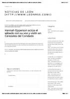 Noticias de León | Hannah Epperson actúa el sábado con su voz y violín en Cerezales del Condado