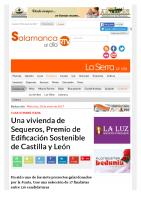Prensa_2016_01_18_Una vivienda de Sequeros Premios de Edificacion Sostenible de Castilla y Leon_Salamanca Al Dia