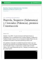 Prensa_2017_01_18_Ibarrola Sequeros Salamanca y Cerezales Palencia premios Construccion_La Vanguardia