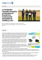 Prensa_2017_01_18_La Fundacion Cerezales Antonino y Cinia gana el I Premio a la Construccion Sostenible de Castilla y Leon . leonoticias.com