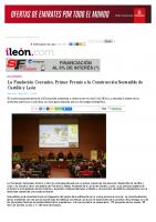 Prensa_2017_01_18_La Fundacion Cerezales Primer Premio a la Construccion Sostenible de Castilla y Leon – ileon.com
