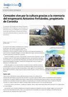 Prensa_2017_04_09_Cerezales vive por la cultura gracias a la memoria del empresario Antonino Fernandez propietario de Coronita_leonoticias com