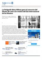 Prensa_2017_05_18_La fotografa Mary Wilson gana el concurso del Museo de Leon con motivo del Dia Internacional de los Museos . leonoticias.com