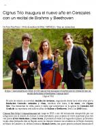 Prensa_2017_2016_12_30_Cignus Trio inaugura el nuevo anio en Cerezales con un recital de Brahms y Beethoven | Tam-Tam Press