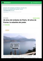 Prensa_2018_1_16_30 anos del embalse de Riano 50 anos de Porma la soberbia del poder _ EL ASOMBRARIO