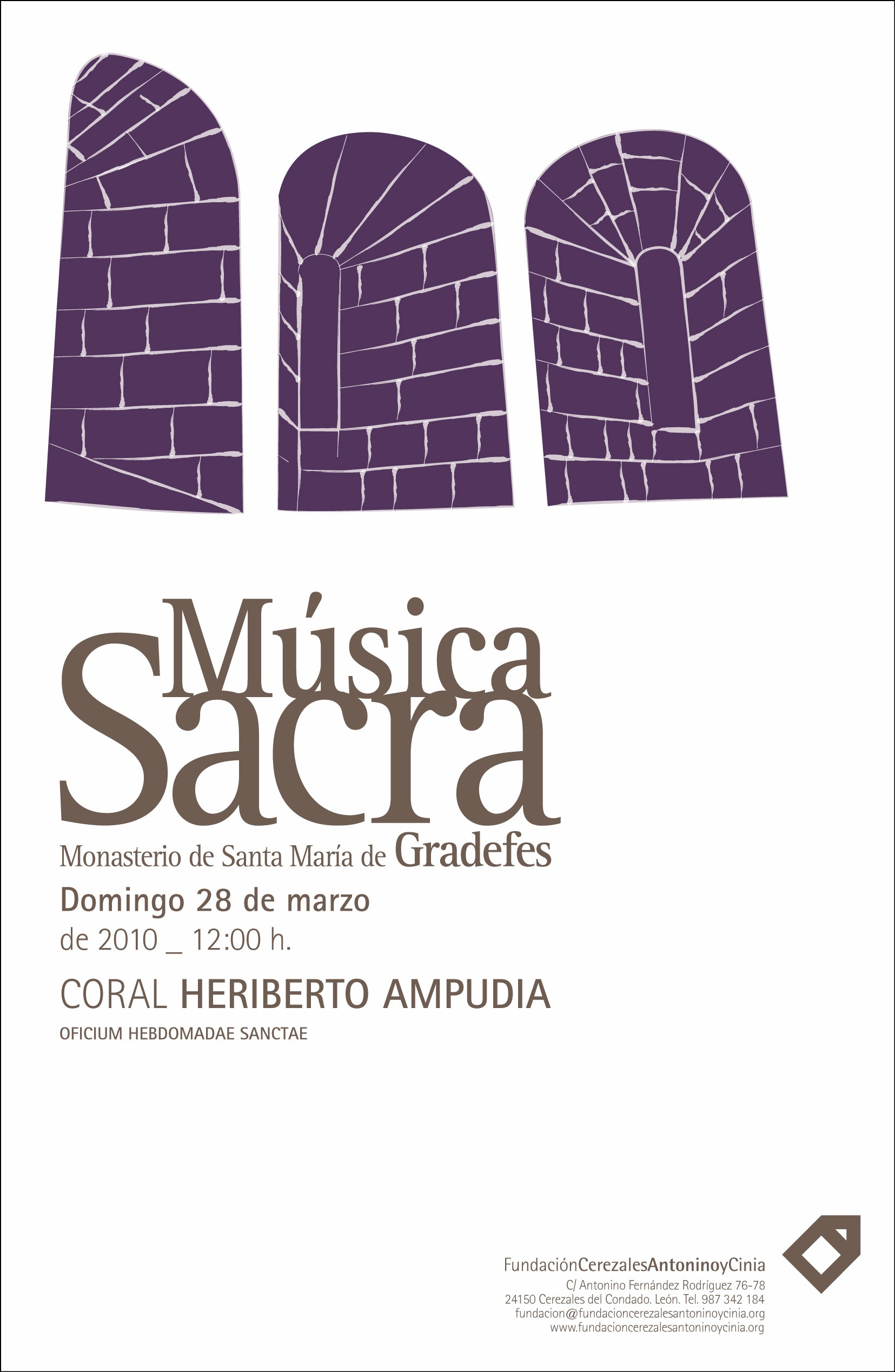 cartel música en Semana Santa 2010 Musica Sacra
